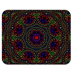 Rainbow Kaleidoscope Double Sided Flano Blanket (medium)  by Nexatart