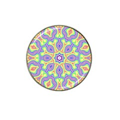 Rainbow Kaleidoscope Hat Clip Ball Marker by Nexatart
