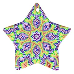 Rainbow Kaleidoscope Star Ornament (two Sides) by Nexatart