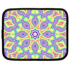 Rainbow Kaleidoscope Netbook Case (xl)