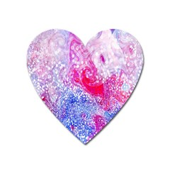 Glitter Pattern Background Heart Magnet by Nexatart