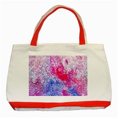 Glitter Pattern Background Classic Tote Bag (red) by Nexatart