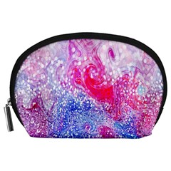 Glitter Pattern Background Accessory Pouches (large)  by Nexatart
