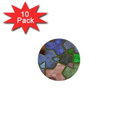Background With Color Kindergarten Tiles 1  Mini Buttons (10 Pack)