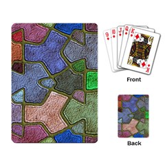 Background With Color Kindergarten Tiles Playing Card by Nexatart