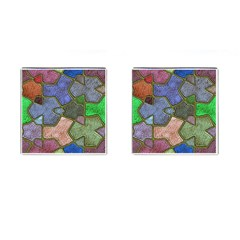 Background With Color Kindergarten Tiles Cufflinks (square)