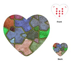 Background With Color Kindergarten Tiles Playing Cards (heart)  by Nexatart