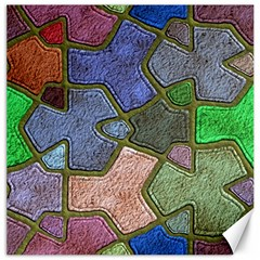 Background With Color Kindergarten Tiles Canvas 12  X 12   by Nexatart