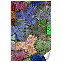 Background With Color Kindergarten Tiles Canvas 24  X 36  by Nexatart