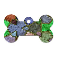 Background With Color Kindergarten Tiles Dog Tag Bone (one Side)