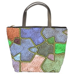Background With Color Kindergarten Tiles Bucket Bags