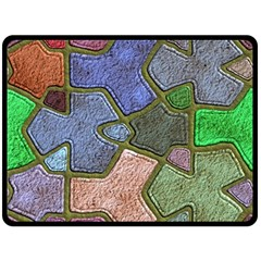 Background With Color Kindergarten Tiles Double Sided Fleece Blanket (large)  by Nexatart