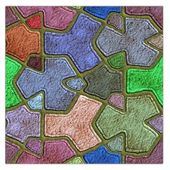 Background With Color Kindergarten Tiles Large Satin Scarf (square)