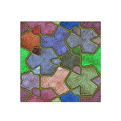 Background With Color Kindergarten Tiles Satin Bandana Scarf by Nexatart
