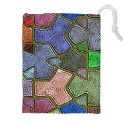 Background With Color Kindergarten Tiles Drawstring Pouches (xxl) by Nexatart