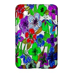 Background Of Hand Drawn Flowers With Green Hues Samsung Galaxy Tab 2 (7 ) P3100 Hardshell Case  by Nexatart
