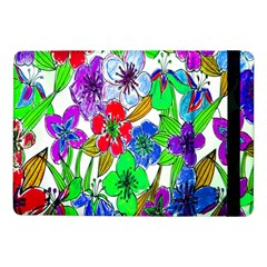 Background Of Hand Drawn Flowers With Green Hues Samsung Galaxy Tab Pro 10 1  Flip Case by Nexatart