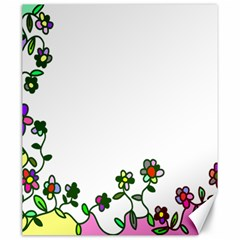 Floral Border Cartoon Flower Doodle Canvas 20  X 24   by Nexatart