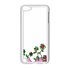 Floral Border Cartoon Flower Doodle Apple Ipod Touch 5 Case (white) by Nexatart