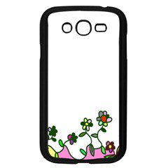 Floral Border Cartoon Flower Doodle Samsung Galaxy Grand Duos I9082 Case (black) by Nexatart