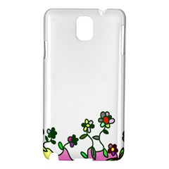 Floral Border Cartoon Flower Doodle Samsung Galaxy Note 3 N9005 Hardshell Case by Nexatart