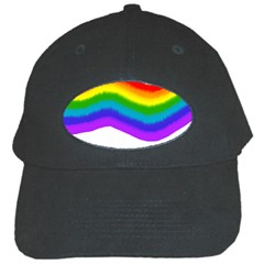 Watercolour Rainbow Colours Black Cap