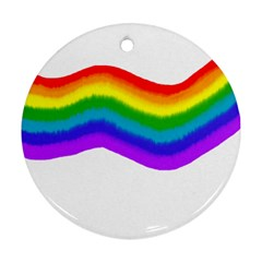 Watercolour Rainbow Colours Ornament (round) by Nexatart