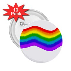Watercolour Rainbow Colours 2 25  Buttons (10 Pack)