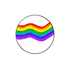 Watercolour Rainbow Colours Hat Clip Ball Marker (10 Pack)