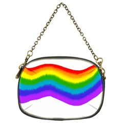 Watercolour Rainbow Colours Chain Purses (one Side)  by Nexatart