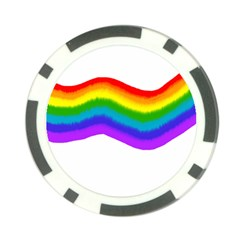 Watercolour Rainbow Colours Poker Chip Card Guard (10 Pack)