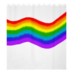 Watercolour Rainbow Colours Shower Curtain 66  X 72  (large)  by Nexatart