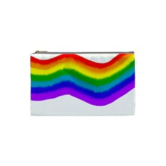 Watercolour Rainbow Colours Cosmetic Bag (small)