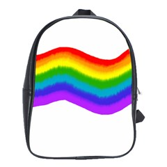 Watercolour Rainbow Colours School Bags(large)