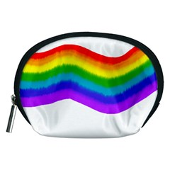 Watercolour Rainbow Colours Accessory Pouches (medium)  by Nexatart