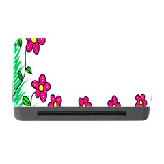 Floral Doodle Flower Border Cartoon Memory Card Reader With Cf