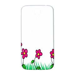 Floral Doodle Flower Border Cartoon Samsung Galaxy S4 I9500/i9505  Hardshell Back Case
