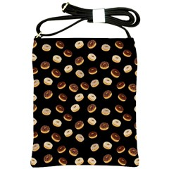 Donuts Pattern Shoulder Sling Bags by Valentinaart