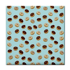 Donuts Pattern Tile Coasters by Valentinaart