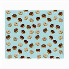 Donuts Pattern Small Glasses Cloth by Valentinaart