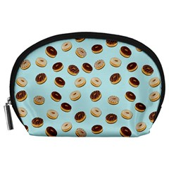 Donuts Pattern Accessory Pouches (large)  by Valentinaart