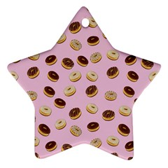 Donuts Pattern Star Ornament (two Sides) by Valentinaart
