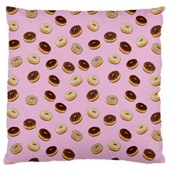Donuts Pattern Standard Flano Cushion Case (two Sides) by Valentinaart