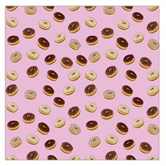 Donuts Pattern Large Satin Scarf (square) by Valentinaart