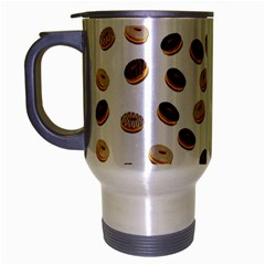 Donuts Pattern Travel Mug (silver Gray) by Valentinaart
