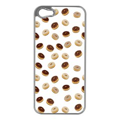 Donuts Pattern Apple Iphone 5 Case (silver) by Valentinaart