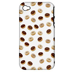 Donuts Pattern Apple Iphone 4/4s Hardshell Case (pc+silicone) by Valentinaart