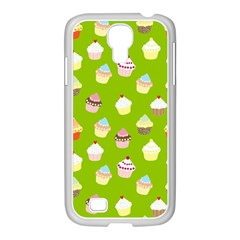 Cupcakes Pattern Samsung Galaxy S4 I9500/ I9505 Case (white) by Valentinaart