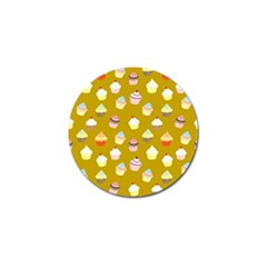 Cupcakes Pattern Golf Ball Marker by Valentinaart