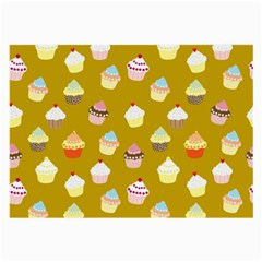 Cupcakes Pattern Large Glasses Cloth (2 Side) by Valentinaart